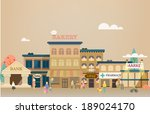 small town with small and... | Shutterstock .eps vector #189024170