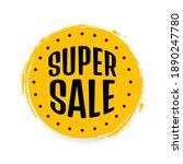 super sale  banner design... | Shutterstock .eps vector #1890247780