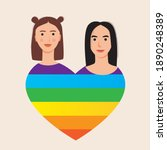 lgbtq couple isolated. flat...   Shutterstock .eps vector #1890248389