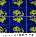 blue and yellow azulejos in the ...   Shutterstock . vector #1890251659