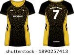 leopard print women sports t... | Shutterstock .eps vector #1890257413
