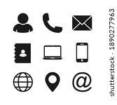 contact us icons. vector... | Shutterstock .eps vector #1890277963