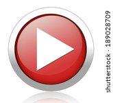 play button web icon | Shutterstock . vector #189028709
