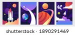 space shuttle and universe.... | Shutterstock .eps vector #1890291469