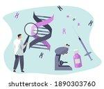 genetic engineering.dna test...   Shutterstock .eps vector #1890303760