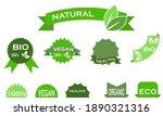 set of food vegan environmental ... | Shutterstock .eps vector #1890321316