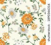 seamless floral pattern... | Shutterstock .eps vector #1890366316