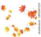 maple leaves vector background  ... | Shutterstock .eps vector #1890367219