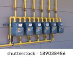 Row Of Residential Natural Gas...