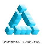 impossible shape. penrose... | Shutterstock .eps vector #1890405403