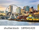 seattle waterfront and skyline  ... | Shutterstock . vector #189041420