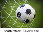 soccer football in goal net | Shutterstock . vector #189041540