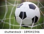 soccer football in goal net | Shutterstock . vector #189041546