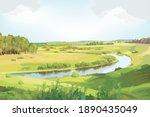 green environment   panorama... | Shutterstock .eps vector #1890435049