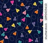 multi colored valentine's day...   Shutterstock .eps vector #1890435610