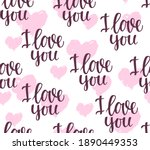 seamless pattern with the... | Shutterstock .eps vector #1890449353