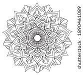 mandalas for coloring book....   Shutterstock .eps vector #1890461089