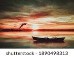 3d Illustration. Sunset Before...