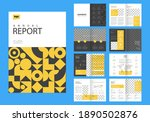 template layout design with... | Shutterstock .eps vector #1890502876