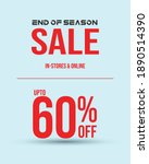 end of season sale with up to... | Shutterstock .eps vector #1890514390