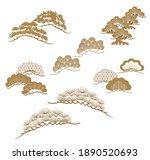 set of bonsai tree object... | Shutterstock .eps vector #1890520693