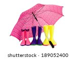 three pairs of colorful rubber... | Shutterstock . vector #189052400