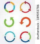 colorful vector arrow graph... | Shutterstock .eps vector #189053786