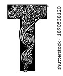 letter ornamented with tattoo... | Shutterstock . vector #1890538120