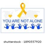 international childhood cancer... | Shutterstock .eps vector #1890557920