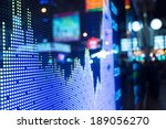 display of stock market quotes  | Shutterstock . vector #189056270