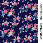 allover pattern floral design... | Shutterstock . vector #1890567820
