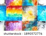 colorful watercolor brush... | Shutterstock . vector #1890572776