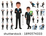 businessman character set in... | Shutterstock .eps vector #1890574333