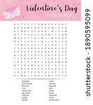 st. valentine's day word search ... | Shutterstock .eps vector #1890595099