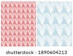 lovely seamless vector patterns ... | Shutterstock .eps vector #1890604213