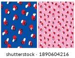 simple doodle vector patterns.... | Shutterstock .eps vector #1890604216