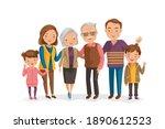 portrait of multi generation. ... | Shutterstock .eps vector #1890612523