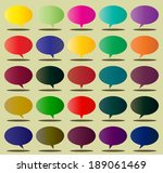 speech of color box sign web... | Shutterstock .eps vector #189061469