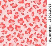 pink red leopard spots seamless ... | Shutterstock .eps vector #1890618013