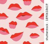 red pink makeup woman lips...   Shutterstock .eps vector #1890618619