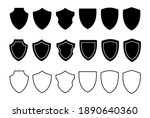 different shields shapes.... | Shutterstock .eps vector #1890640360
