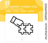 completion mission icon concept ...