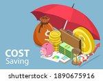 3d isometric flat vector... | Shutterstock .eps vector #1890675916