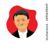jack ma illustration vector... | Shutterstock .eps vector #1890698449