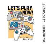 vector joysticks gamepad...   Shutterstock .eps vector #1890725149