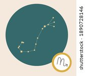 scorpio constellation isolated  ...   Shutterstock .eps vector #1890728146