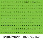 stroke line icons set of... | Shutterstock .eps vector #1890732469