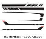 side body vector  stripes decal | Shutterstock .eps vector #1890736399