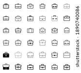 suitcase icon set. briefcase... | Shutterstock .eps vector #1890740086