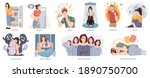 people suffering from mental... | Shutterstock .eps vector #1890750700